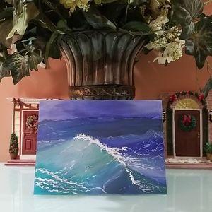 "Wall Art Original Painting ""A Wave"""